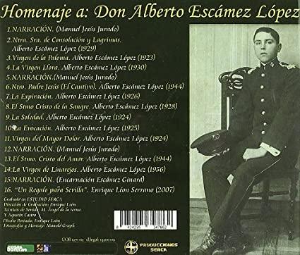 """Lista de marchas del disco """"Un Regalo para Sevilla"""" (2009), de la Banda de Cornetas y Tambores Esencia (Sevilla)"""